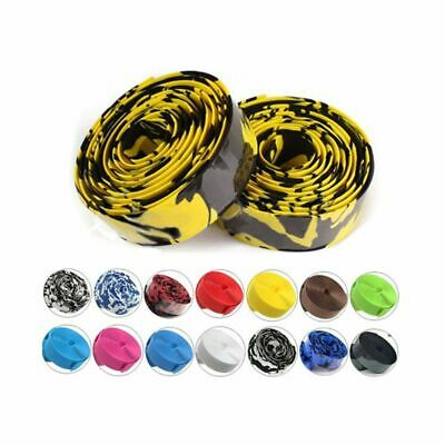 2.8mm 2Pc Cycling Road Bike Sports Bicycle Cork Handlebar PU Tape Wrap