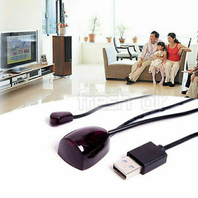 Repeater Extender Emitter Black USB Receiver IR Remote Adapter Infrared Control