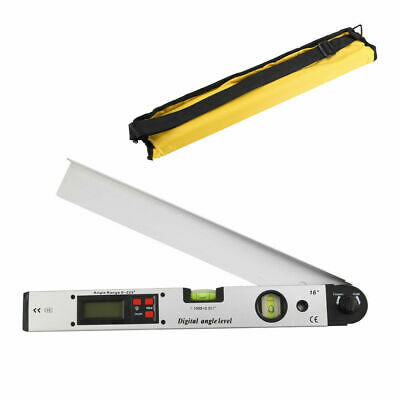 UK 0~225°LCD Digital Protractor Inclinometer Angle Meter Spirit Level Finder