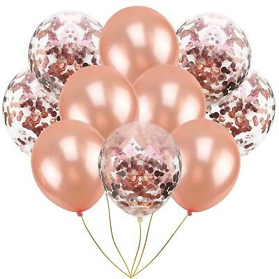10pcs 12Inch Gold Foil Confetti Latex Balloons Wedding Party Decorations Balloon