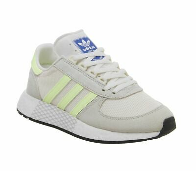 MENS ADIDAS MARATHON Tech Trainers Clear Brown Hires Yellow Ecru Tint Trainers S