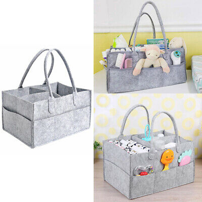 Fabric Baby Nappy Diaper Changing Bag Travel Mummy Handbag Wipes Toy Tote Basket