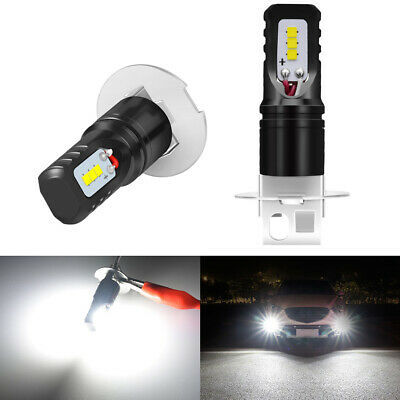 Nighteye 2X H3 1600LM 6500K Cool White LED Fog Light Bulbs Lamp Replacement 160W