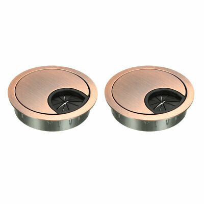 "Cable Hole Cover, 2-1/8"" Zinc Alloy Desk Grommet, 2 Pcs (Red Bronze)"