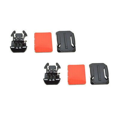 6 Pieces Accessory Kit Curved Base Mount Quick Release Buckle for GoPro Hero