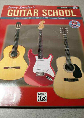 Jerry Snyder's Guitar School Music Learning Textbook New Free Fast US Shipper