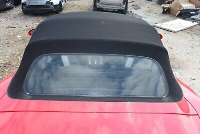 BMW Z4 E85 CONVERTIBLE HOOD SOFT TOP ROOF WITH GLASS SCREEN in BLACK
