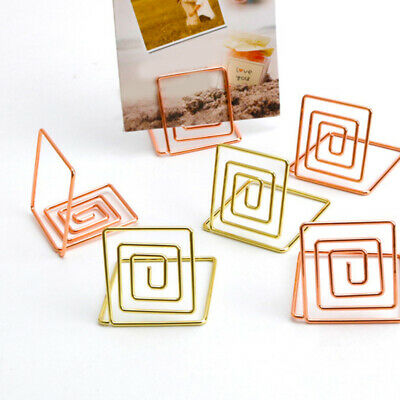 Paper Menu Picture Memo Note Photo Clip Holder Food Signs For Table Name Number Holders Wire Shape Place Card Holder Stands