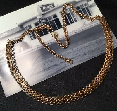 Fabulous vintage Retro 50s Glam Gold Metal Bib Egyptian Revival collar Necklace