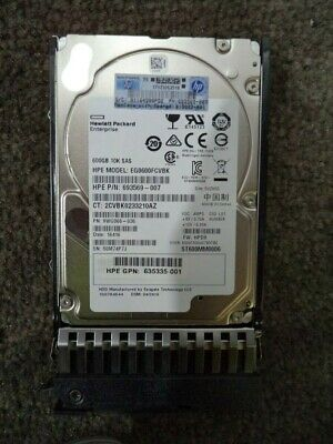 "Genuine Hp 600Gb Sas 10K 2.5"" Hard Drive G7 Server 635335-001 Hdd Warranty G8 G9"