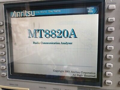 Anritsu Mt8820A Radio Communication Analyser 30Mhz - 2.7Ghz W/ Mx882050A / Mx882