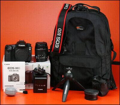 Canon EOS 80D DSLR Camera With 18-55mm Zoom Lens kit with Battery & Charger