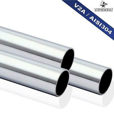 33,7 x 2mm Stainless Steel Pipe Railing round Tube V2A Polished 2600mm