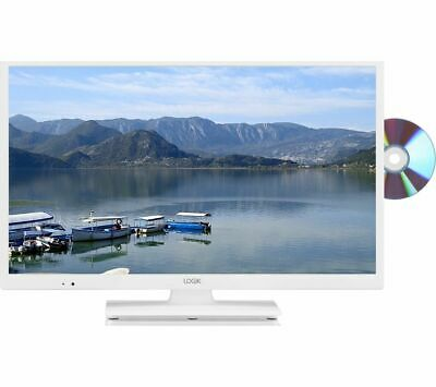 """Logik L24HEDW18 24"""" HD Ready LED TV - Built In DVD Player & Freeview HD - White"""