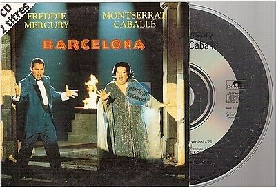 FREDDIE MERCURY barcelona CD SINGLE france QUEEN french card sleeve CABALLE