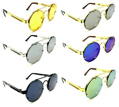 6d34fc3fd917 Round Classic Luxury Sunglasses Lennon Circle Steampunk Hip Hop Migos Retro  Vtg