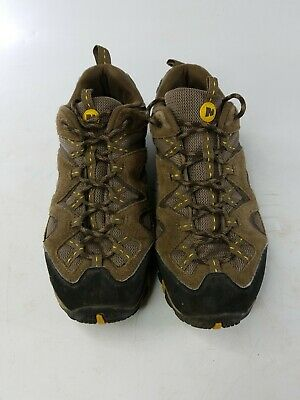 a401c427f6a48 Men's Merrell Stone/Old Gold Trail Hiking Shoes J202265C Good Condition  Size 9