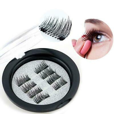 8Pc/4Pair 3D Magnetic False Eyelashes Natural Eye Lashes S Makeup Extension T8K2