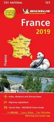 France 2019 - Michelin National Map 721 Map 9782067236547   Brand New