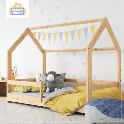 Wooden Children House Bed | Treehouse Toddler Bed | Kid House Bed | Scandi Bed