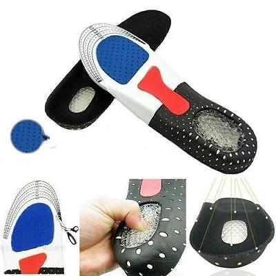 Unisex Gel Orthotic Sport Running Insoles Insert Shoe Pad Arch Support Cushion T