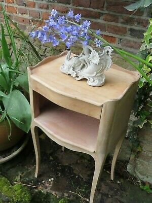Charming Vintage French Country Wooden Bedside Table  / Cabinet~ Period Interior