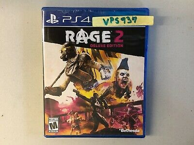 Rage 2 Deluxe Edition (Sony Playstation 4, PS4, 2019) BRAND NEW FACTORY SEALED!!