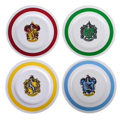 """Harry Potter Plates 10.5"""" Dinner Plates Include All 4 Hogwarts Houses"""