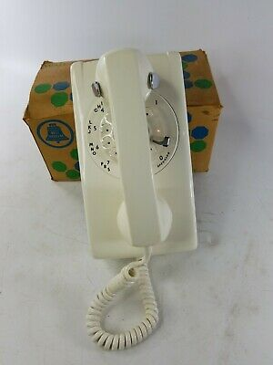 Vintage Bell Rotary Wall Phone 554BR-50 White WITH BOX