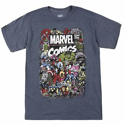 Marvel Men's Comics Retro Classic Vintage Villains Heroes Crew T-Shirt (Medium)