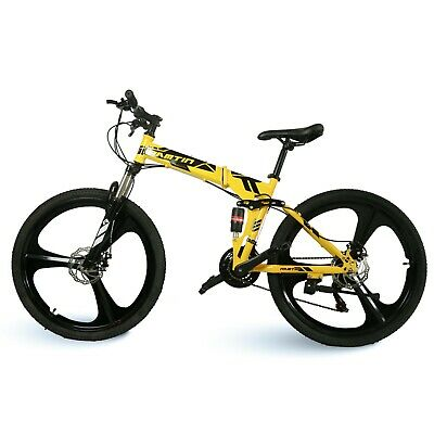"YELLOW 26"" alloy  3 spoke rim  folding  Mountain Bike bicycle 21 Speed"