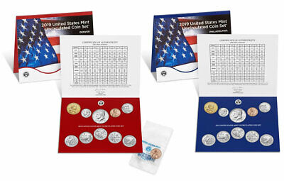 2019 US Mint Annual Uncirculated Coin Set - Without W Cent -