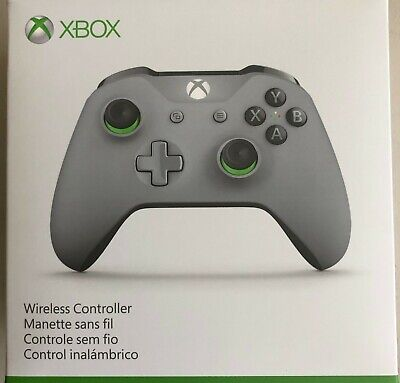 Microsoft Xbox One Wireless Controller - Grey/Green Fast ship