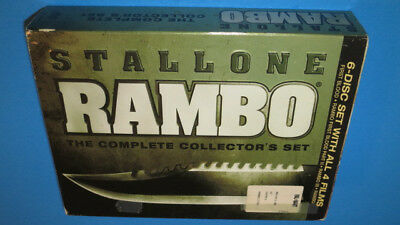 Rambo: The Complete Collectors Set (DVD, 2008, 6-Disc Set) Sylvester Stallone