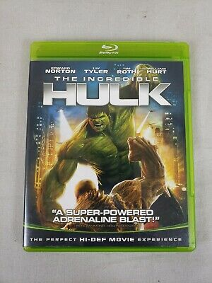 The Incredible Hulk Blu-Ray DVD Marvel Edward Norton 2008 USED MCU