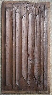 3.RARE EARLY 16th CENTURY LINEN FOLD, GOTHIC  PANEL, Medieval Carving
