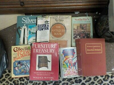 8 Antique Reference Books