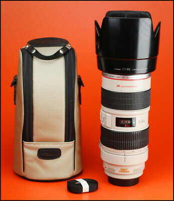 Canon EF 70-200mm F2.8 L IS USM  Zoom Lens Sold With Rear Caps, Hood & Case