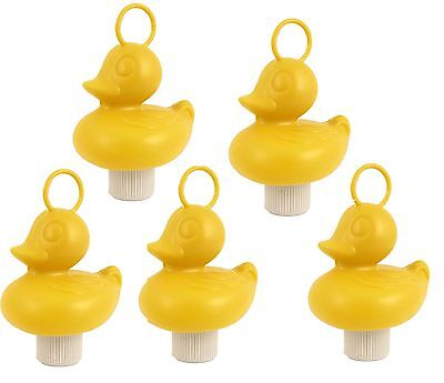 5 X Hook A Duck Solid Toy Fishing Bath Time Fairground Floating Weighted Game