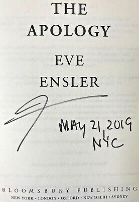 THE APOLOGY by Eve Ensler (2019) ~ SIGNED+DATED+NYC ~ First Ed. / First Printing