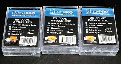 Lot of (3) Ultra Pro 25 Count 2 Piece Box 2 packs