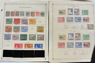 St Kitts Old Collection Dr Schultz Estate Mint And Used Z720