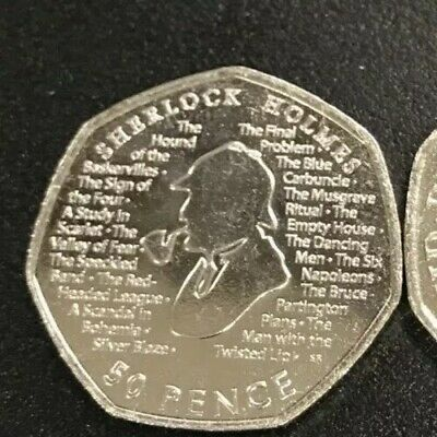 Sherlock Holmes 50p 2019 Brand New From Minted Bag UNCIRCULATED Freepost