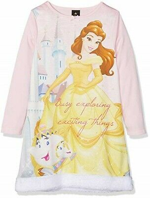 Disney Princess Girl's Belle Faux Fur Nightie Size Age 2-3 New With Tags