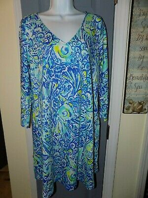 83697644161f9c LILLY PULITZER ERIN Dress Blue Crush Size M Women's NWOT - $53.30 ...