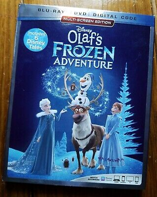 Olaf's Frozen Adventure Blu-ray + DVD + Digital Code Sealed w/ Slipcover Disney