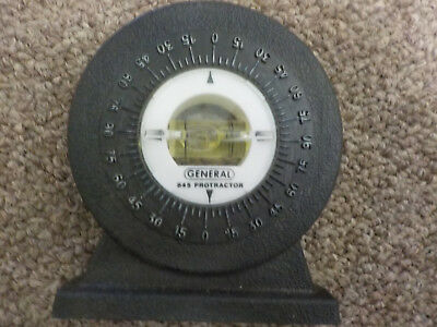 """General Protractor 845 and Level tool, stands, works great, about 3"""" tall"""
