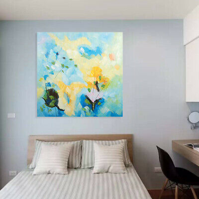 Framed Modern Abstract Hand Painted Oil Painting Wall Art Home Decor Flowers