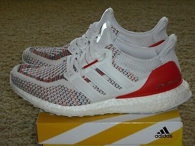 best value 70cce 29137 Adidas Ultra Boost 2.0 BB3911 White Red Multicolor U.S Men s Size 9.5