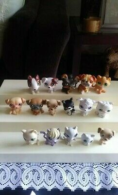 Lot Of 16 Littlest Pet Shop Pets Hasbro...Dogs & Cats